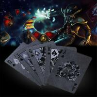 Table Games Black Matte Plastic Poker Cards PET Waterproof Playing Magic Card