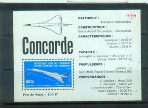 Recht seltener Briefmarken-Block aus Kamerun, Bl. 10: Conorde