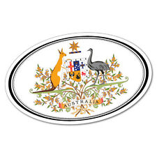 Aus Country Colour Oval Label Sticker Aussie Car Flag 4x4 Funny Ute #5363En