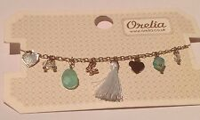 ORELIA CHARM BRACELET ~RRP £18~ MINT GREEN DAYDREAMER GOLD TONE JEWELLERY ~7402~