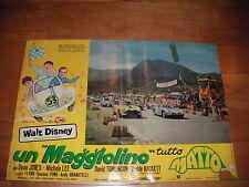 """FOTOBUSTA UN """"MAGGIOLINO"""" TUTTO MATTO HERBIE (The Love Bug) WALT DISNEY AUTO CAR"""