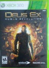 Deus Ex: Human Revolution (Microsoft Xbox 360 2011) GAME COMPLETE CIB RPG ACTION