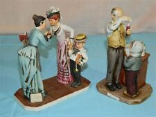 Pair of Vintage Dave Grossman Rockwell Figurines Magic Potion & First Day School