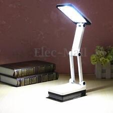 Bright Portable Folding 17 LED Reading Light Rechargeable Table Study Desk Lamp