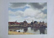 Johannes Vermeer ANSICHT DER STADT DELFT Druck aus ca. 1920 old print