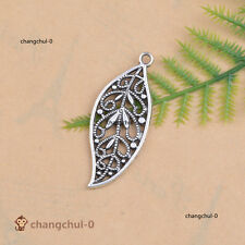 Tibetan Silver Gold Leaves Charm Bracelet Necklace Pendant DIY Jewelry Findings