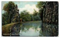 1908 Canal at Tuckertown above Reading, PA Postcard