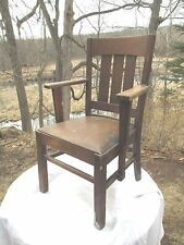 Arts & Crafts Mission Oak Arm Chair / Desk Chair DELIVERY AVAILABLE see below