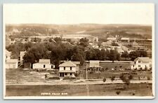 Fergus Falls~Birdseye~American Square Home~Outhouse~Dirt Rd~Barn~Shed~RPPC c1916