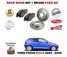 für Ford Focus ST170 2.0i 2002-2005 NEU Bremsscheiben SET hinten & Bremsbelag