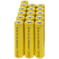 16x AA battery batteries Bulk Nickel Cadmium Rechargeable NI-Cd 2800mAh 1.2V Yel