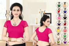 Rabbi Indian Asian Pakistani Stitch Ready made Lycra Saree Blouse Top/Choli