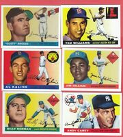 1955 Topps Baseball Reprint lot of 50 different cards