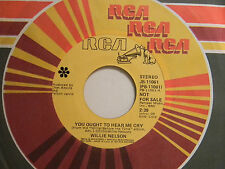 Willie Nelson 45 YOU OUGHT TO HEAR ME CRY / ONE IN A ROW ~ Columbia VG++ country