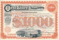 West Shore Railroad Company, First Mortage Bond, historische Aktie, Eisenbahn