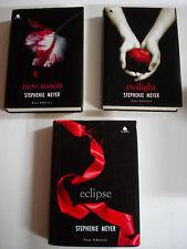 Twilight, New Moon, Eclipse - Stephenie Meyer saga