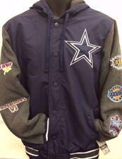 NFL Dallas Cowboys 5 Time Champion Topbrass Vsty Hooded Jacket Medium Navy