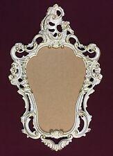 Espejo de pared ovalado Vintage Baño Antiguo Blanco Oro 50x76 BARROCO MARCO