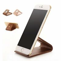 Quality Universal Wooden Phone Holder Desk Stand For Samsung iPhone Cell Phone