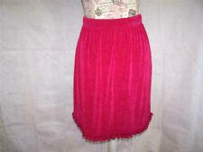 Vikki Vi Skirt Plus 1X Petite Travel Knit Pink Elastic Waist Stretch Ruffled Hem