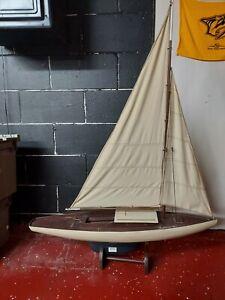 "Endeavor 36"" Wood Model Yacht"