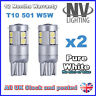 9 SMD LED CANBUS ERROR FREE HID WHITE CAR SIDE LIGHT BULBS T10 501 W5W 194