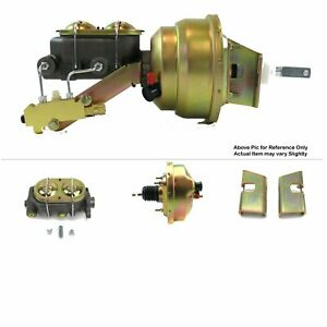 "63-66 Chevy Truck V8 Firewall Mount Power 8"" Single Brake Booster Kit Drum/Drum"