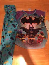 Lego Batman Batman Batgirl Robin Girls 2 Pc. Pajamas Set Size 7/8 Medium NWT DC