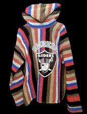 VAZQUEZ HOODIE Baja Pullover OAKLAND RAIDERS Mexico Stripes Blue Brown Red sz XL