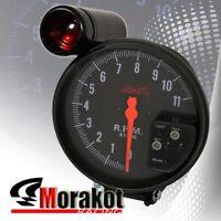 """5"""" Inch (120MM) Jdm Sport 7 Color 11K RPM Tachometer Led Gauge+Shift Light Black"""