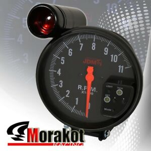 "5"" Inch (120MM) Jdm Sport 7 Color 11K RPM Tachometer Led Gauge+Shift Light Black"