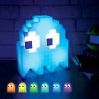 Pac Man Ghost Light USB Powered Multi colored Lamp Paladone Nightlight Party a