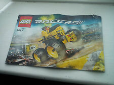 Lego 9093 Racers - Monster truck - Car - Instruction Construction Manual.
