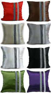 "Large Satin Diamante Lace Cushions or Covers 17X17""or21""X21"" 7 Colors"