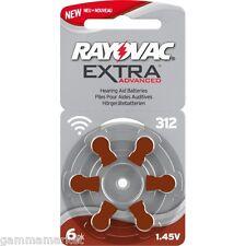 60 pile RAYOVAC EXTRA 312 per apparecchi acustici  protesi acustiche