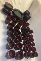 Vintage Avon 1878 Cape Cod Ruby Red Glass Lot of 68