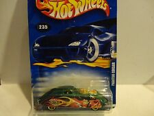 2002 Hot Wheels #235 Green Phantom Corsair w/Gold 5 Hole Wheels Malaysia Base