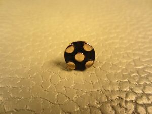 Vintage Black Enamel Yellow Gold Plated Tie Tac or Lapel Pin