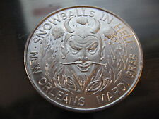 1966 satan devil snowballs in hell Mardi Gras Doubloon Coin new orleans SALE