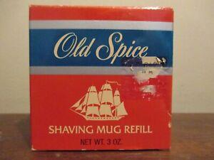 Vintage OLD SPICE 3 oz SHAVING MUG REFILL Shaving Soap~Factory Sealed~New In Box
