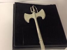 """Double Battle Axe GT139 Pewter Scarf and Kilt Pin Pewter 3"""" 7.5 cm"""