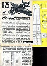 Plan de bâtiment Fessel flugmodell North American b-25 Mitchell-l' original de 1956