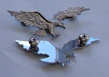 Flying Eagle Chrome Bolt-On.Badge-Motorcycle-Curiser- Bikes-Small- Sold 1 Eagle
