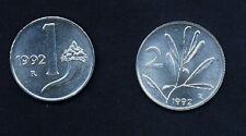1 Lira + 2 Lire 1992   FDC