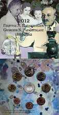 GRECE Coffret de 9 pièces FDC BU 2012 avec 10 Euros Georges Papanikolaou