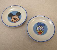 Ancienne Dinette Assiette en Porcelaine Mickey Donald Poupee