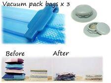 Periea Confezione da 3 (3 Taglie) + POMPA A MANO LIBERA-aspirapolvere vacum Vacume Storage Bags