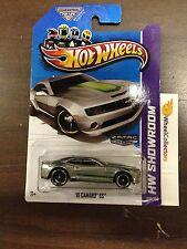 '10 Camaro SS #226 Green Stripe * ZAMAC * 2013 Hot Wheels G2
