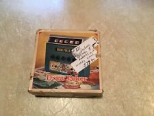 Vintage Draw Poker Hand Held Game New NOS Waco Japan 1971 MIB N Box Mint WORKING