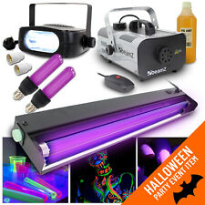 More details for halloween party in a box uv disco dj lights effects + strobe + fog machine 900w